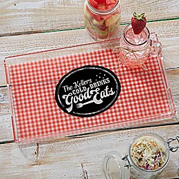 Picnic Plaid Personalized Acrylic Serving Tray