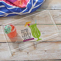 Happy Hour Personalized Acrylic Serving Tray