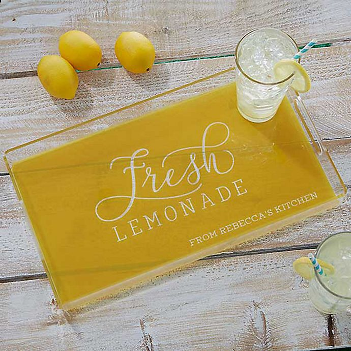 Alternate image 1 for Outdoor Fun Typography Personalized Acrylic Serving Tray