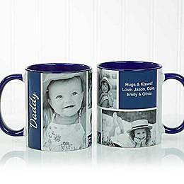 Family Love Photo Collage 11 oz. Coffee Mug in Blue