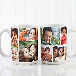 Create A Photo Collage 15 oz. Coffee Mug in White