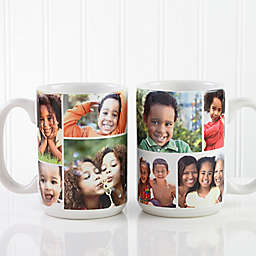 Create A Photo Collage 15 oz. Coffee Mug in White
