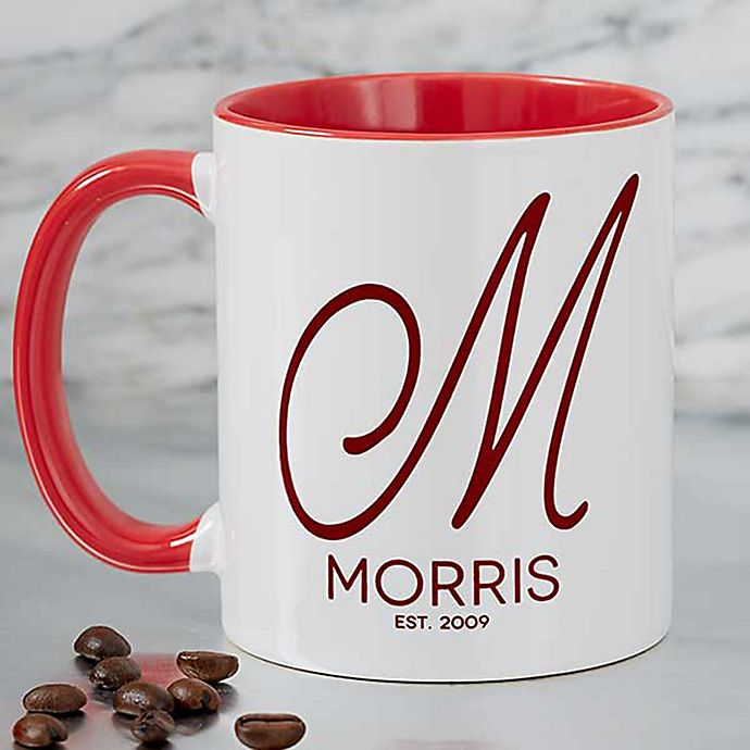 Initial Accent 11 Oz Coffee Mug