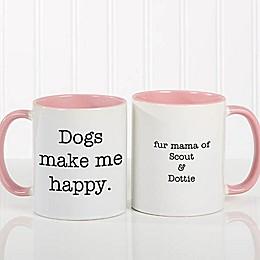 Pet Expressions 11 oz. Coffee Mug in Pink