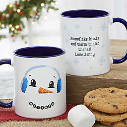 Snowman Character 11 oz. Christmas Mug in Blue