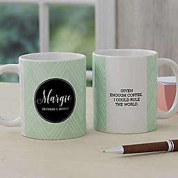 Name Meaning Geometric 11 oz. Coffee Mug