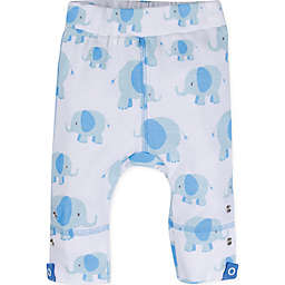 MiracleWear® Size 6-12M Posheez Snap 'n Grow Elephant Print Adjustable/Expandable Pant in Blue