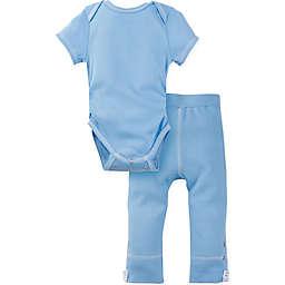 Miraclewear 2-Piece Posheez Snap'n Grow Bodysuit and Pant Set in Blue