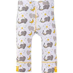 MiracleWear® Posheez Snap 'n Grow Elephant Print Adjustable/Expandable Pant in Grey