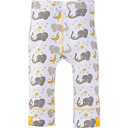 MiracleWear® Size 6-12M Posheez Snap 'n Grow Elephant Print Adjustable/Expandable Pant in Grey