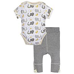 MiracleWear® 2-Piece Posheez Snap 'n Grow Elephant Bodysuit and Pant Set in Grey