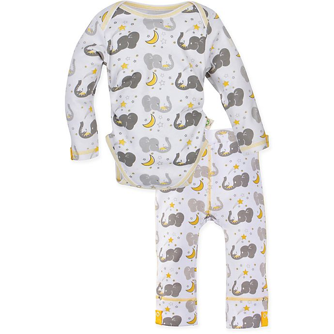 Alternate image 1 for MiracleWear 2-Piece Elephant Bodysuit and Pant Set in Grey