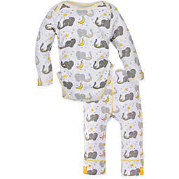 MiracleWear 2-Piece Elephant Bodysuit and Pant Set in Grey