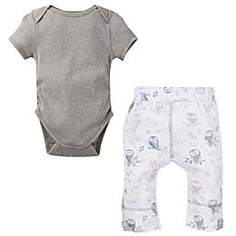 MiracleWear® 2-Piece Posheez Snap 'n Grow Bodysuit and Owl Pant Set in Grey