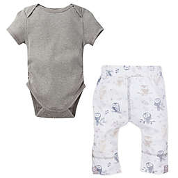 MiracleWear® 2-Piece Posheez Snap 'n Grow Bodysuit and Owl Pant Set in Grey