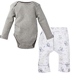 MiracleWear® 2-Piece Snap 'n Grow Long Sleeve Bodysuit and Owl Pant Set in Grey