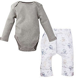 MiracleWear® 2-Piece Snap 'n Grow Long Sleeve Bodysuit and Owl Pant Set in Grey
