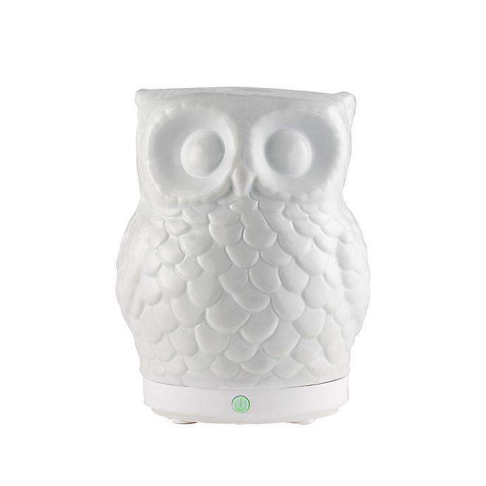 Alternate image 1 for SpaRoom® Owl USB Ultrasonic Essential Oil Diffuser in White