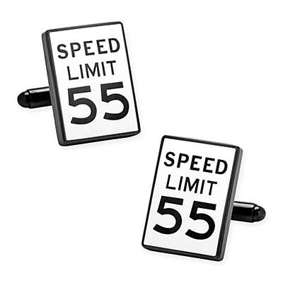 Cufflinks Inc. Speed Limit Sign Enamel Cufflinks