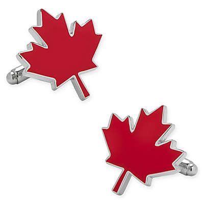 Cufflinks, Inc. Red Enamel Maple Leaf Cufflinks