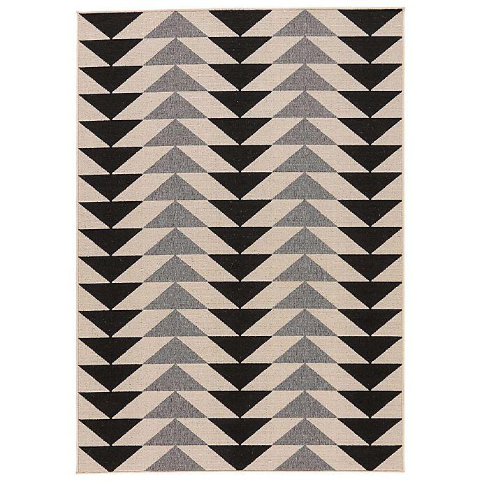 Alternate image 1 for Jaipur Patio Indoor/Outdoor Rug in Black/Grey