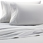 Heartland® HomeGrown™ 400-Thread-Count Pinstripe Printed King Pillowcase in Grey