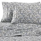 Heartland® HomeGrown™ Paisley 400-Thread-Count Sateen King Sheet Set in Grey