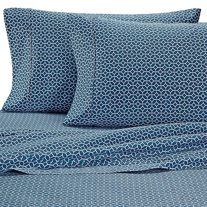 Alternate image 1 for Heartland® HomeGrown™ Linx 400-Thread-Count Sateen Full Sheet Set in Teal