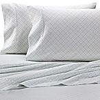 Heartland® HomeGrown™ Geo 400-Thread-Count Sateen Queen Sheet Set in Mint