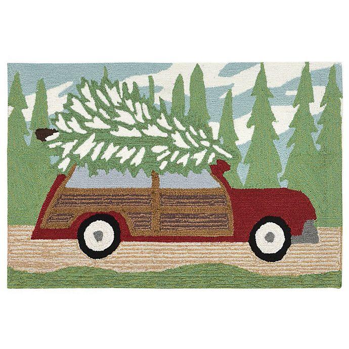 Alternate image 1 for Liora Manne Woody Wonderland 2-Foot 6-Inch x 4-Foot Indoor/Outdoor Mat in Pine