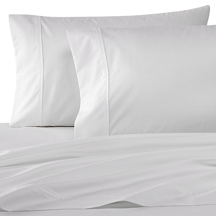 Alternate image 1 for Wamsutta® Dream Zone® PimaCott® 500-Thread-Count Twin XL Sheet Set in White