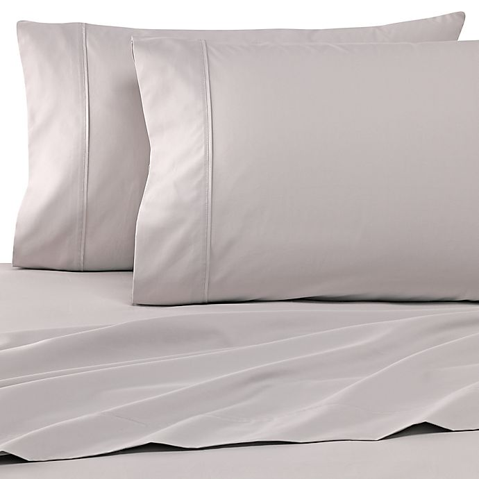 Alternate image 1 for Wamsutta® Dream Zone® 500-Thread-Count PimaCott® Twin Sheet Set in Silver