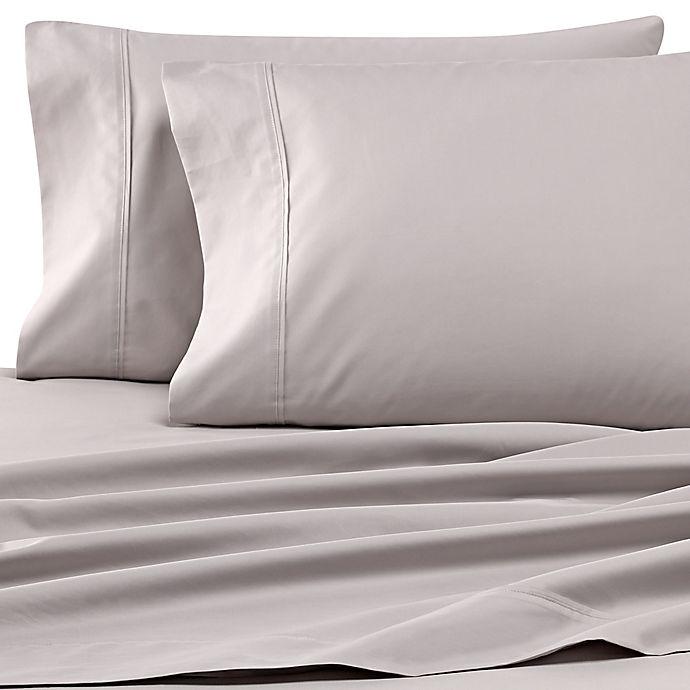 Alternate image 1 for Wamsutta® Dream Zone® 500-Thread-Count PimaCott® Twin Sheet Set in Grey