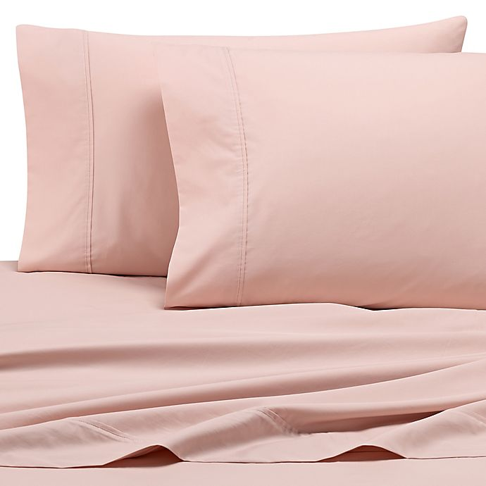Alternate image 1 for Wamsutta® Dream Zone® 500-Thread-Count PimaCott® Twin Sheet Set in Rose