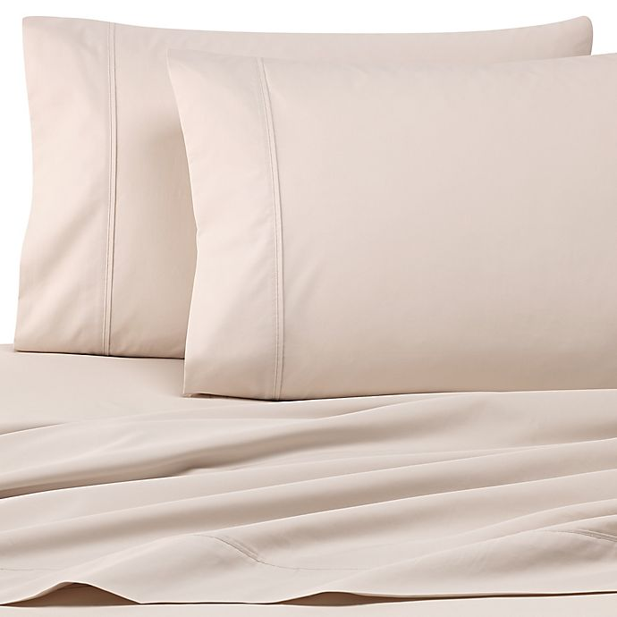 Alternate image 1 for Wamsutta® Dream Zone® PimaCott® 500-Thread-Count Twin XL Sheet Set in Stone