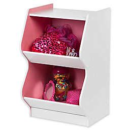 IRIS® Children's Scalloped Storage Shelf in White and Pink