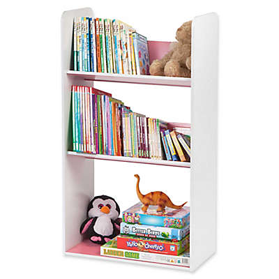 IRIS® Children's Angled Bookcase in White and Pink