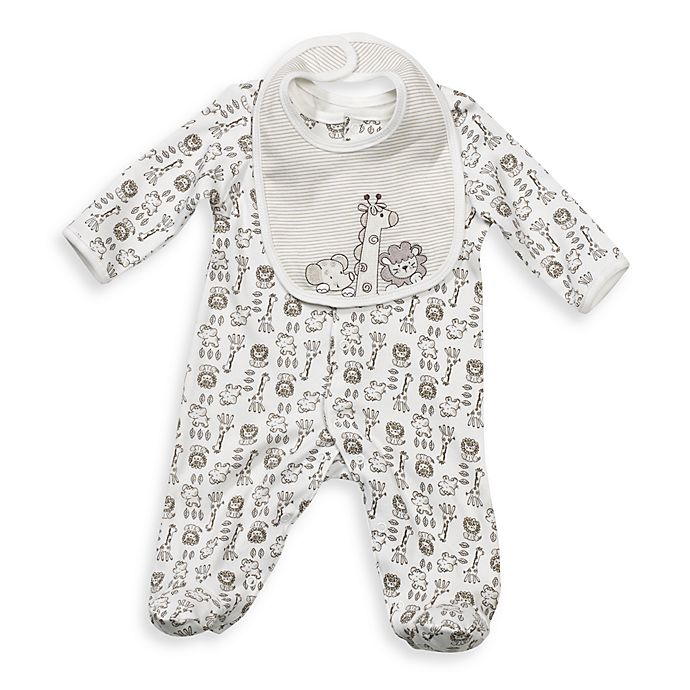 Alternate image 1 for Little Me® Safari Footie with Bib