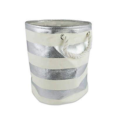 Design Imports Small Round Woven Paper Bin