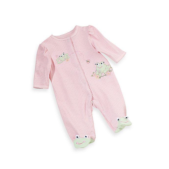 Alternate image 1 for Little Me® Frog Footie in Pink