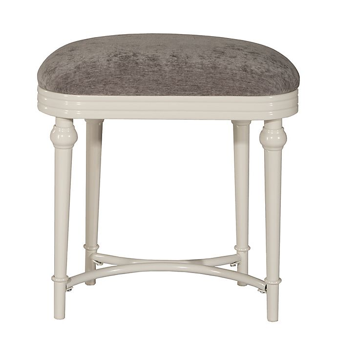 hillsdale hampton vanity stool in grey | bed bath & beyond