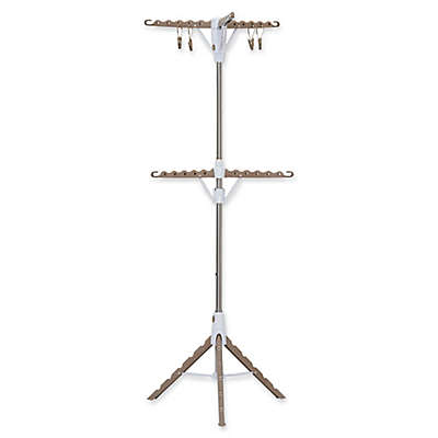 Household Essentials® 2-Tier Tripod Clothes Drying Rack in Tan/White
