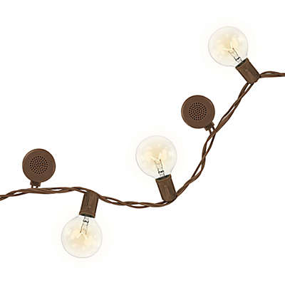 Bright Tunes™ 12-Light Indoor/Outdoor String Lights with Bluetooth Speakers in Brown