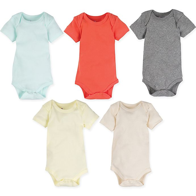 Alternate image 1 for MiracleWear 5-Pack Baby Basic Bodysuits