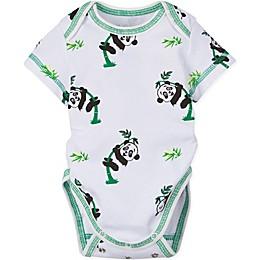 MiracleWear Panda Bodysuit in Green/White