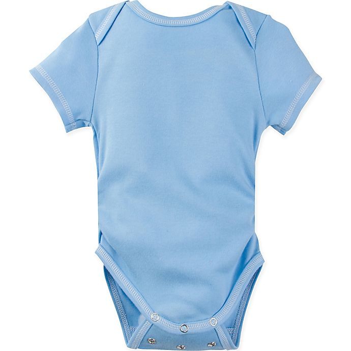 Alternate image 1 for MiracleWear Size 6M Solid Short Sleeve Bodysuit in Blue