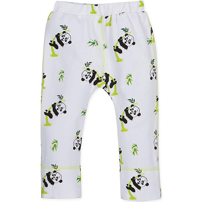 Alternate image 1 for MiracleWear Panda Pant in Green/White