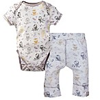 MiracleWear® Size 0-6M 2-Piece Posheez Snap 'n Grow Owl Bodysuit and Pant Set in Grey