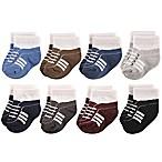 Hudson Baby® Size 0-6M 8-Pack Athletics Short Crew Socks