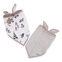 Little Unicorn™ 2-Pack Cotton Muslin Bandana Bib